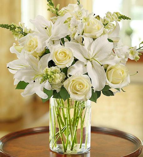 Classic All-White Arrangement