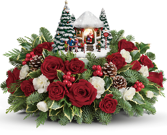 Thomas Kinkade's Jolly Santa Bouquet